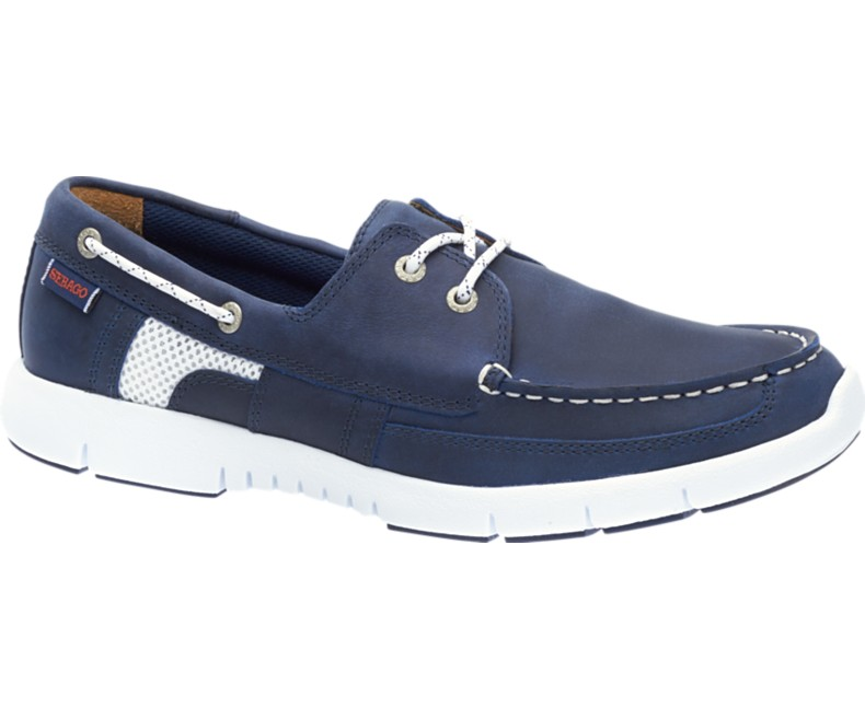 B130237 Chaussures Homme KINSLEY TWO EYE Navy Leather de Sebago
