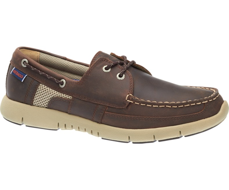B130238 KINSLEY TWO EYE Chaussures Homme Dark Brown Leather de SEBAGO