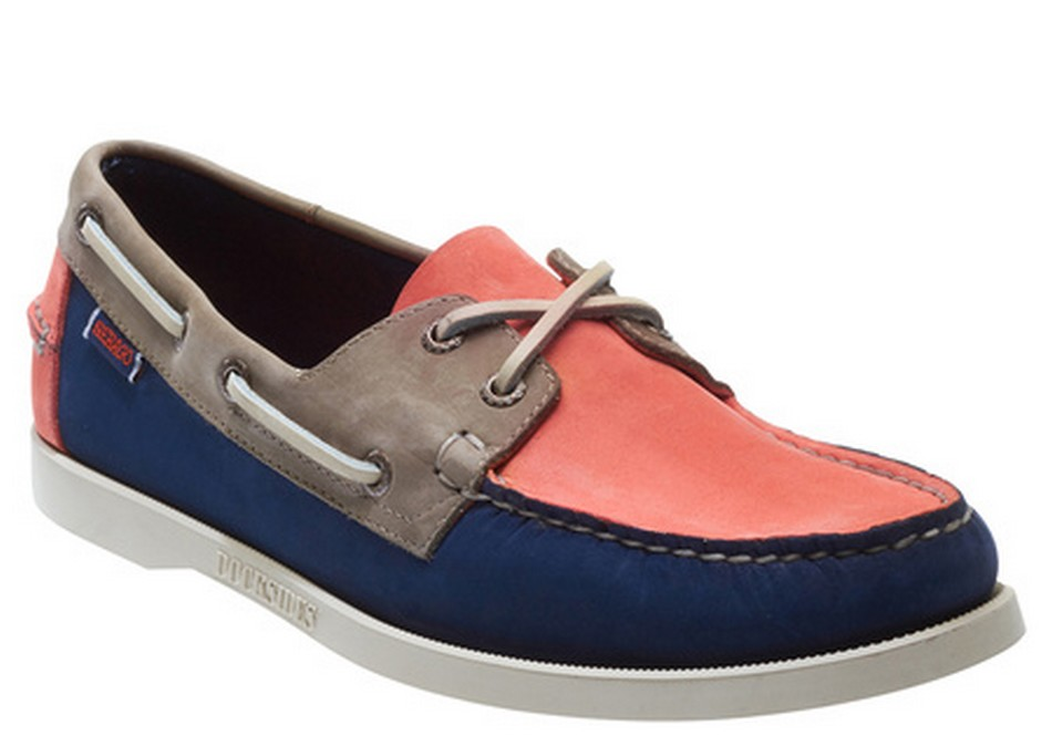 B720402 SPINNAKER NUBUCK chaussures bateau Homme Navy Coral Taupe de SEBAGO