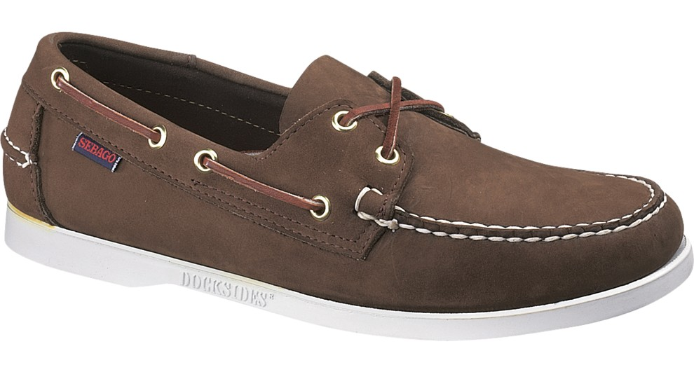 B72758 Docksides Dark Brown Nubuck de SEBAGO