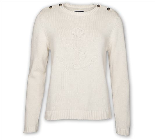 SKW5623 ANCHOR Knit Jumper Pull Femme Off White de SEBAGO