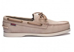 7000G90-910R Authentique Chaussures Bateau Docksides Homme SEBAGO Suede Taupe.JPG