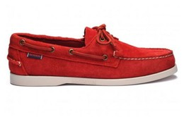 7000G90-913R Authentique Chaussures Bateau Docksides Homme SEBAGO Suede Red.JPG