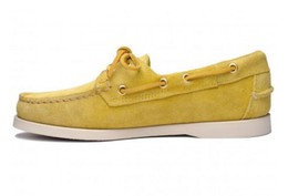7000G90-970R Authentique Chaussures Bateau Docksides Homme SEBAGO  Suede Yellow Mimosas1.JPG