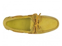 7000G90-970R Authentique Chaussures Bateau Docksides Homme SEBAGO Suede Yellow Mimosas2.JPG
