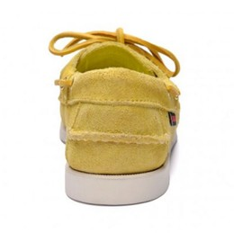 7000G90-970R Authentique Chaussures Bateau Docksides Homme SEBAGO Suede Yellow Mimosas3.JPG