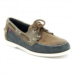 B720351 SPINNAKER DOCKSIDES Chaussures Bateau Homme Brown Navy Grey Leather de SEBAGO.jpg